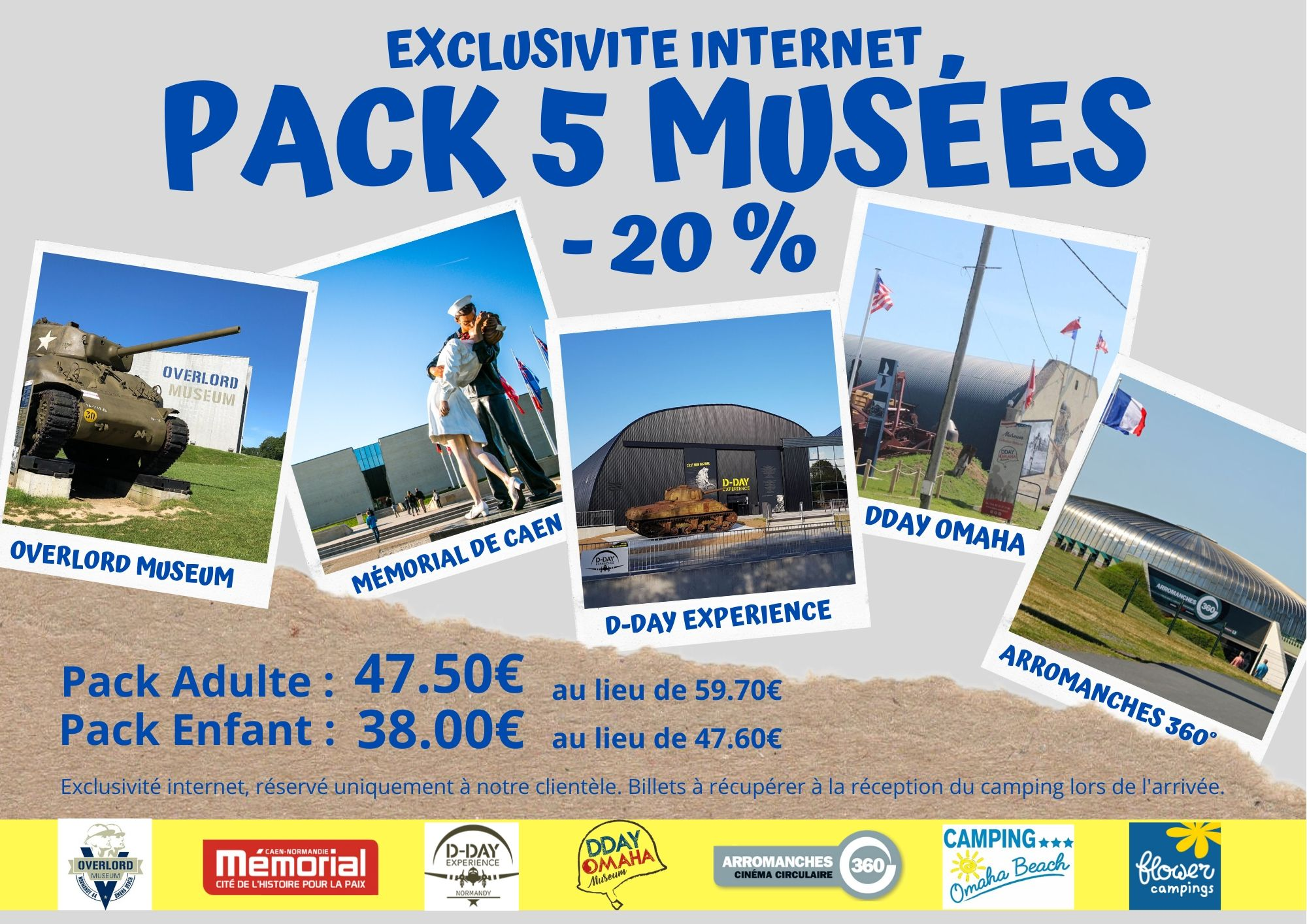 PACK DECOUVERTE 5 MUSEES