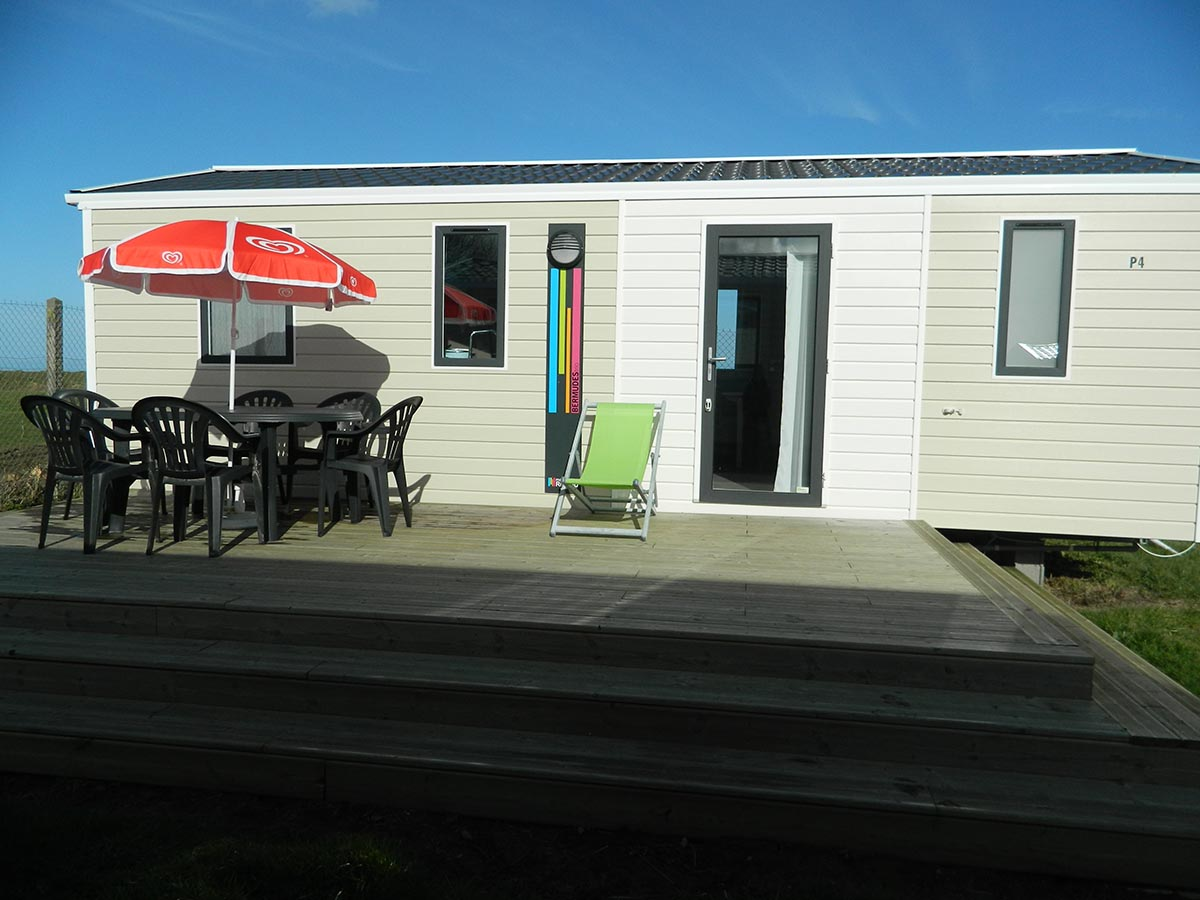 Rideau bermudes 3 chambres terrasse gamme standard camping omaha beach